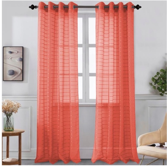 Glory Home Designs Other - Karen Sheer Grommet-Top Single Curtain Panel_CLSHR